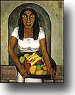 Woman with Fruit Basket <I>(Mujer con canasta de fruta)</I>  by Rufino        Tamayo